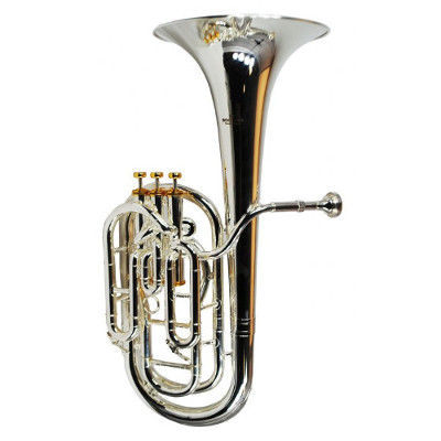Schiller British Band Baritone - Silver Plated with Gold Accents