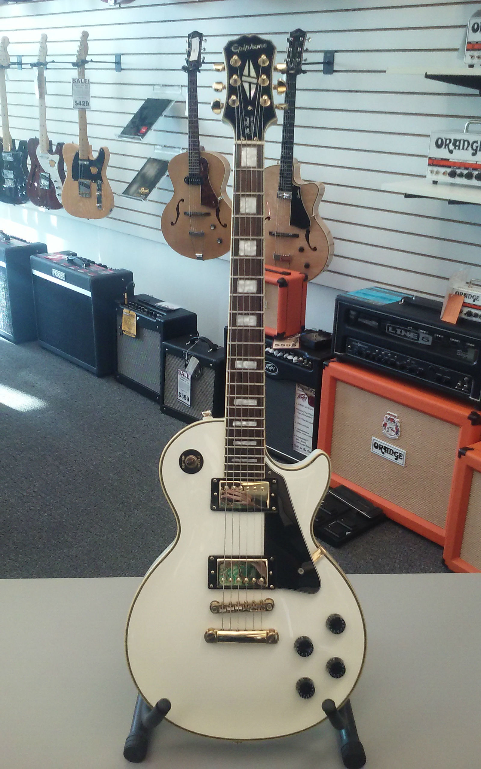 Epiphone Limited Edition 1970's Inspired Les Paul® Custom Electric Guitar - White