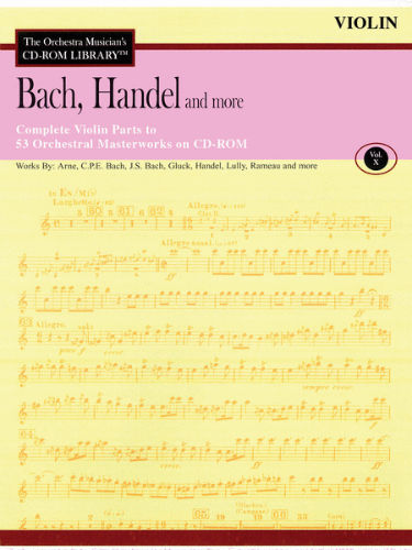 Bach, Handel and More – Volume 10 - CD Sheet Music Series - CD-ROM