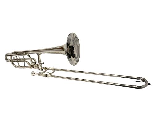 Schiller American Heritage Double Rotor Trombone - Nickel Plated