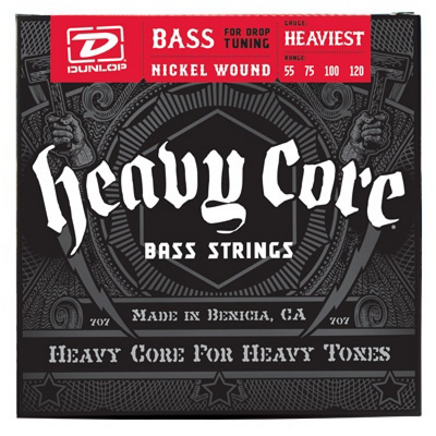Dunlop Heavy Core Bass NPS, Heaviest, 55-120