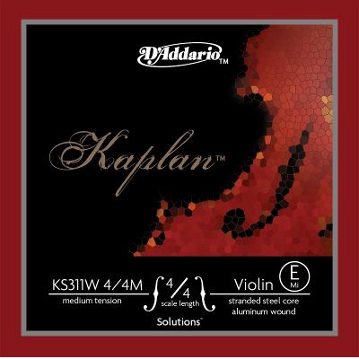 D Addario KS311W Kaplan Solutions 4/4M Violin E String