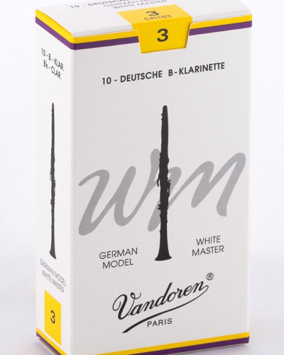 Vandoren Bb Clarinet White Master German Reeds (Assorted Strengths)