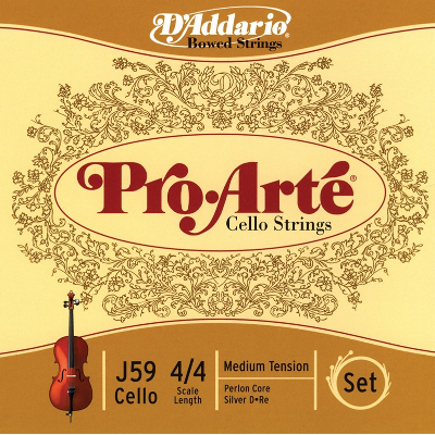 D Addario Pro Arte 4/4 Cello Strings with Perlon Core