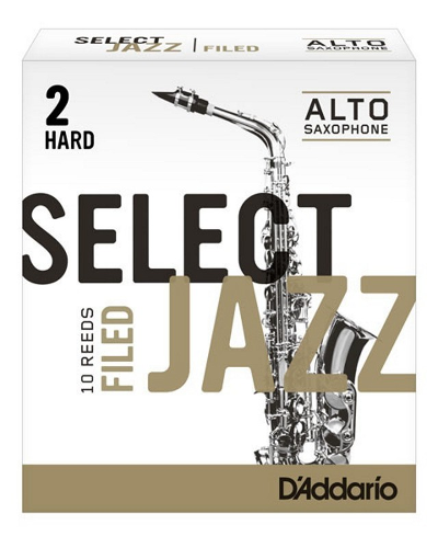 D Addario Select Jazz Alto Saxophone Filed Reeds (Assorted Strengths)