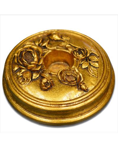Vienna Strings Gold Round Cello Rockstop - Flower Design