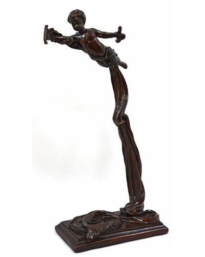 Vienna Strings World Artisan Violin Stand - Greek Harpist - Aged Bronze