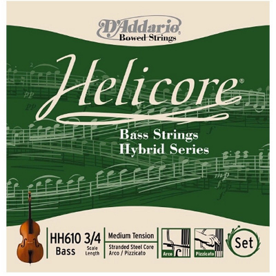 D Addario Helicore Hybrid Double Bass Strings