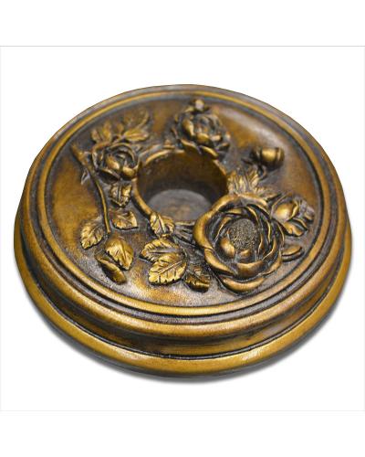 Vienna Strings Aged-Bronze Round Cello Rockstop - Flower Design
