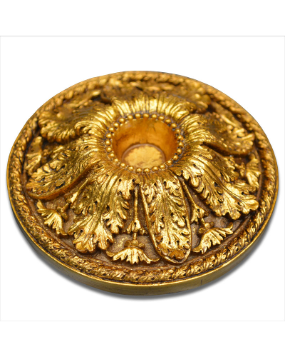 Vienna Strings Gold Round Cello Rockstop - Large Leaf Design
