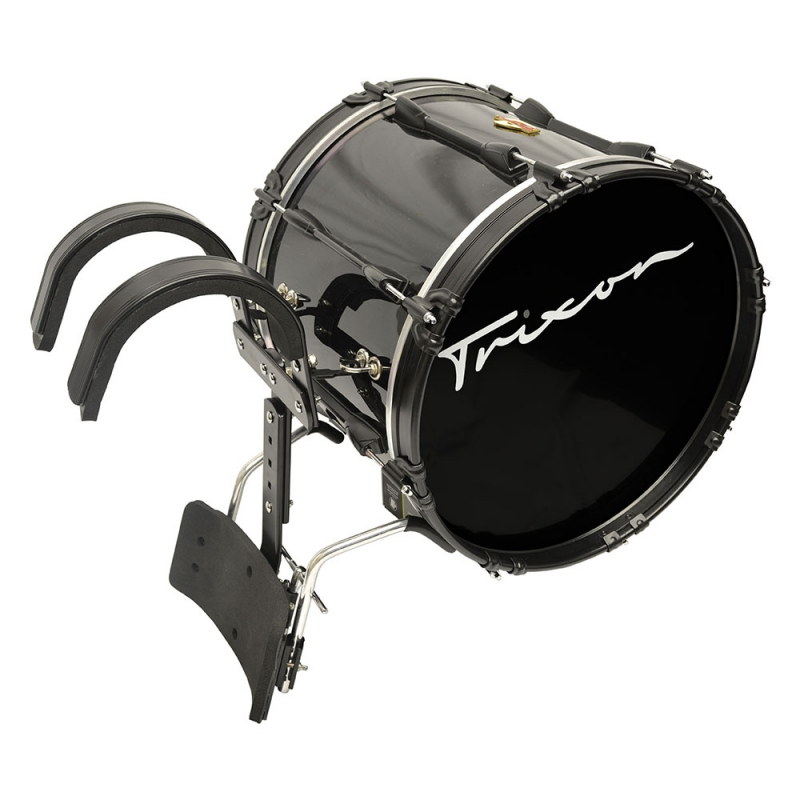 Trixon Pro Marching Bass Drum 24x14 black