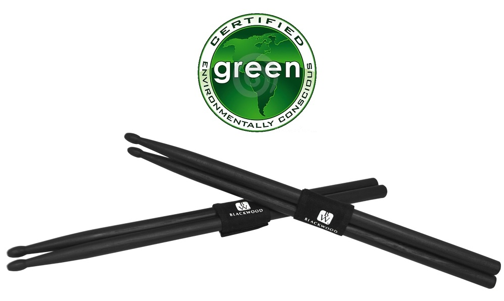 Trixon Blackwood Drumsticks 5A Size - Black