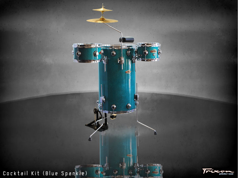 Trixon Elite Cocktail Kit Blue Sparkle