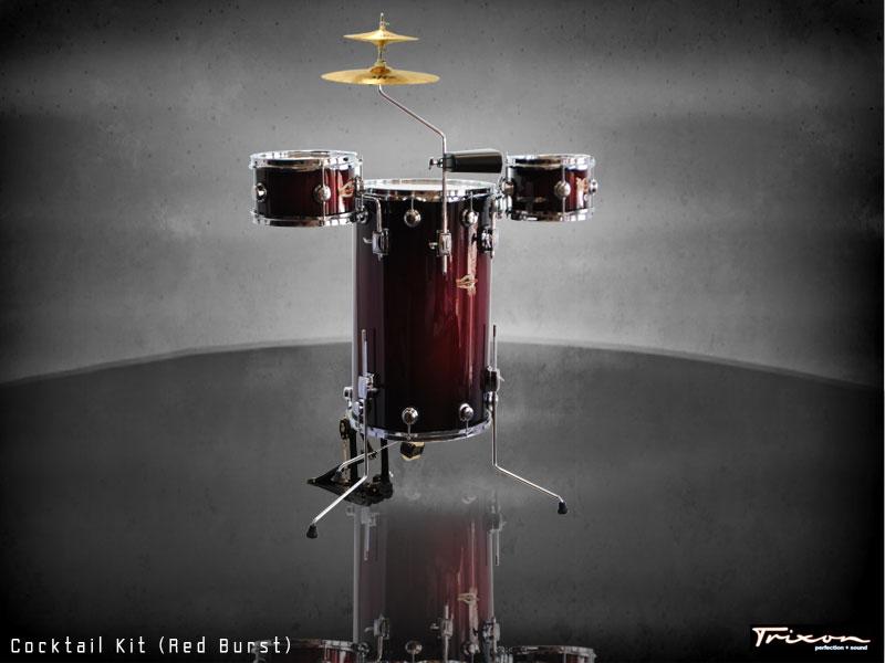 Trixon Elite Cocktail Kit Red Burst Fade