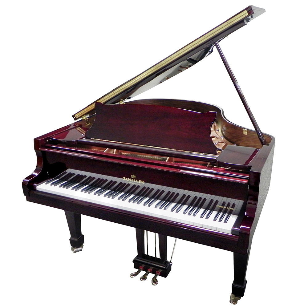 Schiller Concert 5.5 Grand Piano - Mahogany Polish