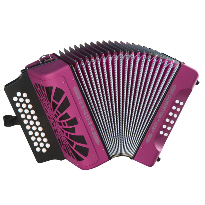 Hohner El Rey del Vallenato ADG, Violet with Gig Bag