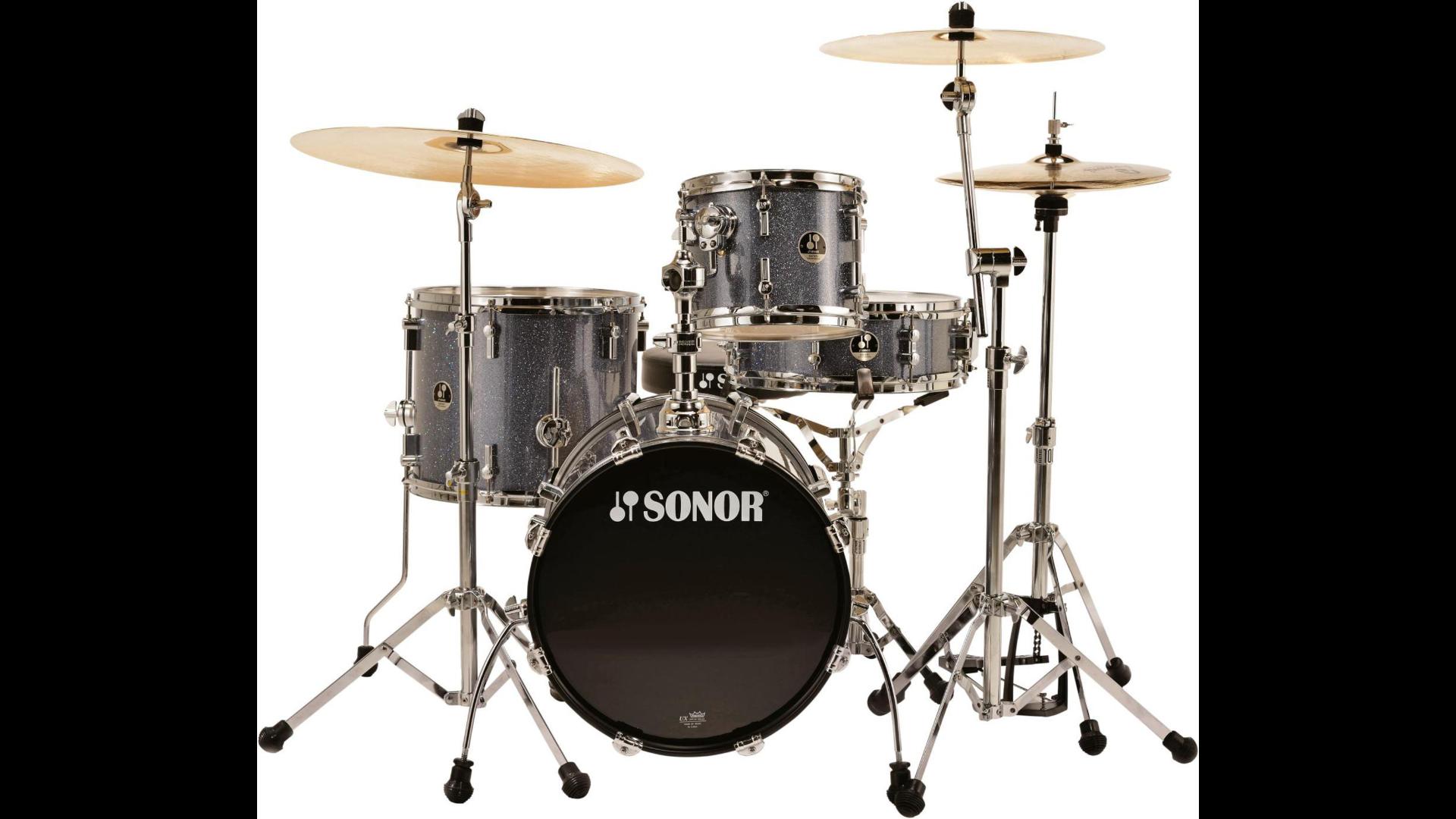 Sonor Safari 4-Piece Shell Pack  Black Galaxy Sparkle