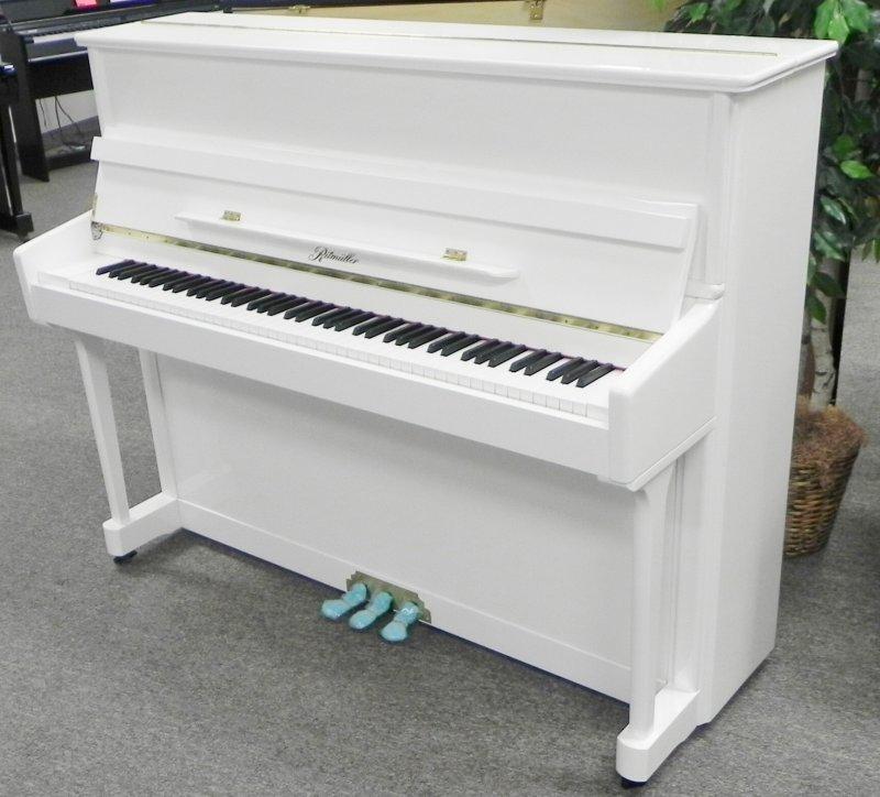 Ritmuller Upright Piano - White Polish