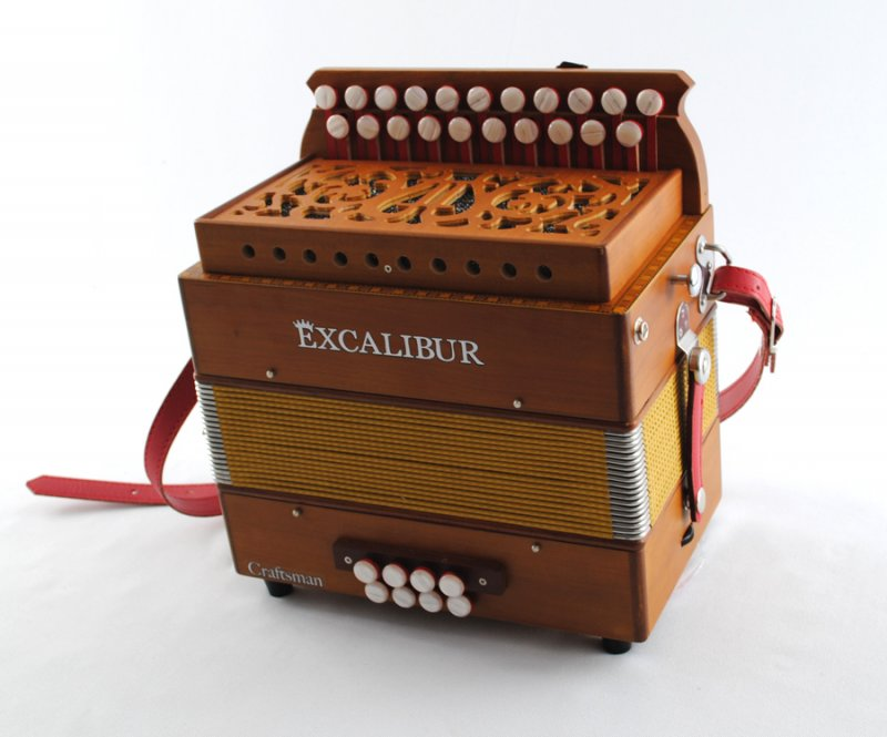 Excalibur European Series 2 Row Button Accordion Craftsman Model
