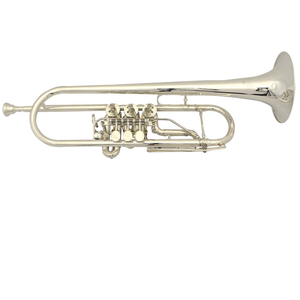 Schiller Frankfurt Elite Rotary Silver Trumpet