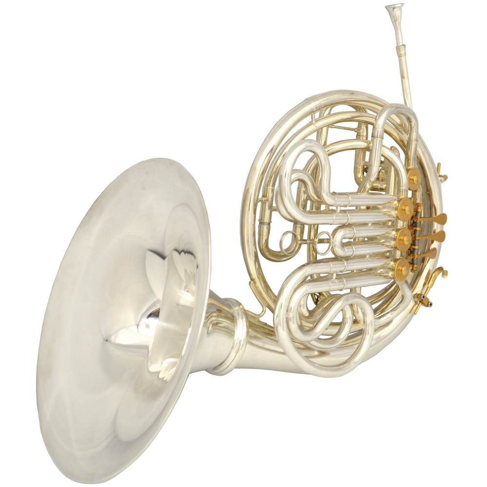 Schiller French Horn - Silver & Gold w/ Removable Bell