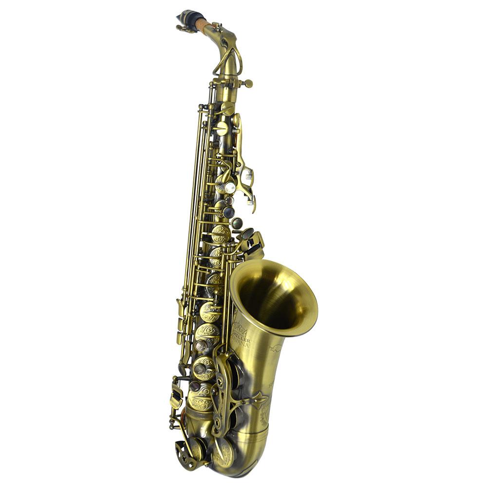 Schiller Havana Alto Saxophone - Antique Lacquer Finish with Exclusive Totem Keys