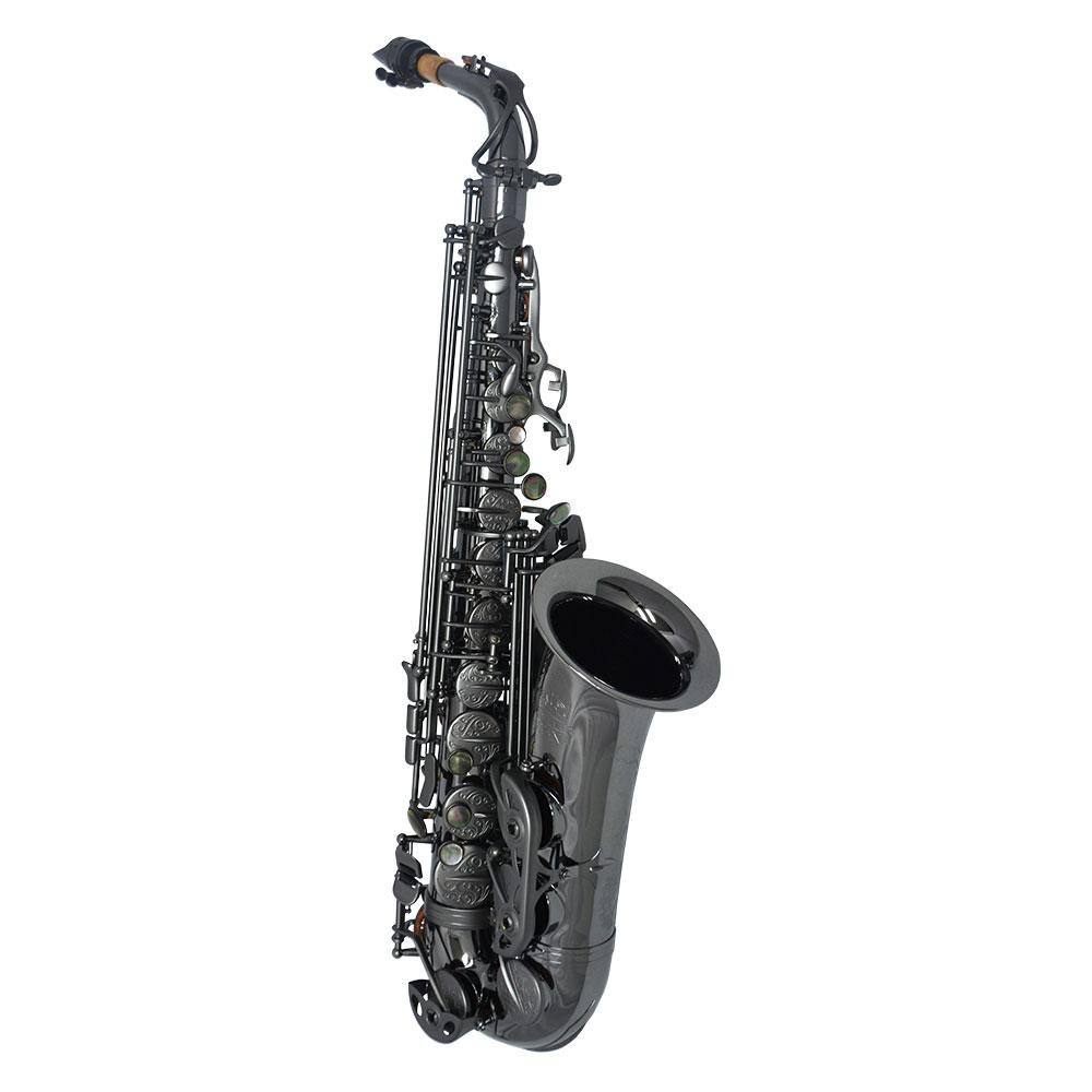 Schiller Havana Alto Saxophone - Black Nickel with Brushed Black Nickel Totem Keys