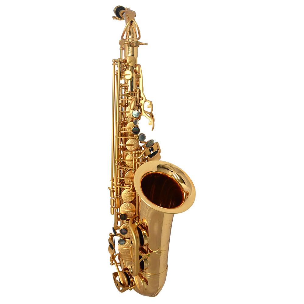 Schiller Havana Alto Saxophone - Gold Gloss with Brushed Roman Gold Totem Keys