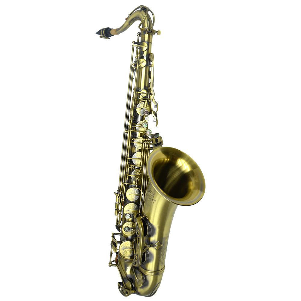 Schiller Havana Tenor Saxophone - Antique Lacquer with Totem Keys