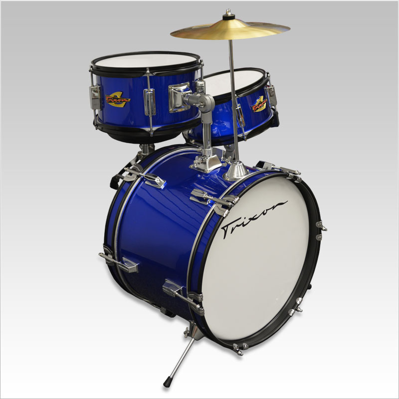 Trixon Kids Series Drumkit 3 Piece with Cymbal - Blue