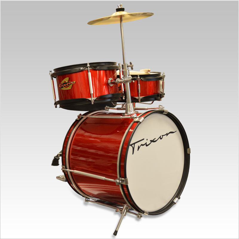 Trixon Kids Series Drumkit 3 Piece with Cymbal - Red Sparkle