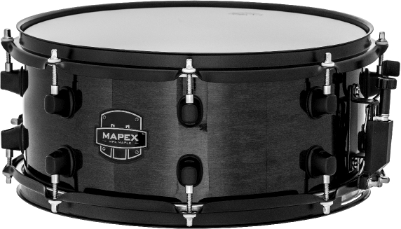 Mapex MPX Maple Snare Drum - MPML3600BMB - Transparent Midnight Black