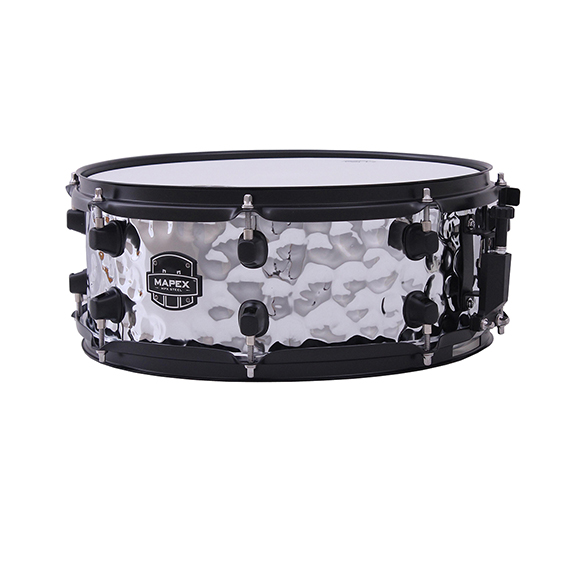 Mapex MPX Steel Hammered Snare Drum - MPST4558HB - Chrome Finish