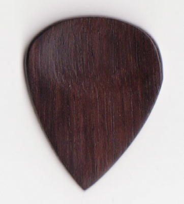 Thicket Wooden Guitar Pick with Thumb Groove - Rosewood - Pack of 3