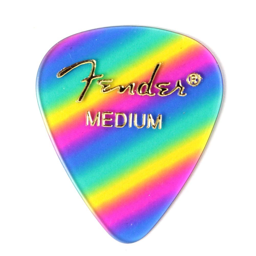 FENDER® 351 SHAPE GRAPHIC PICKS (12 PER PACK) - Medium - Rainbow