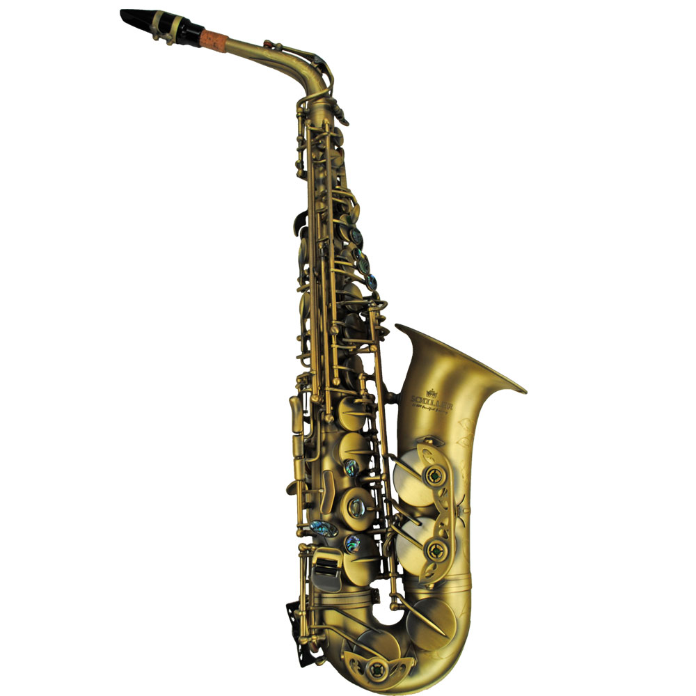 Schiller Elite V Luxus Vintage Alto Saxophone - Antique Gold