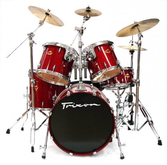 Trixon Solist Birch Drum Set - Red