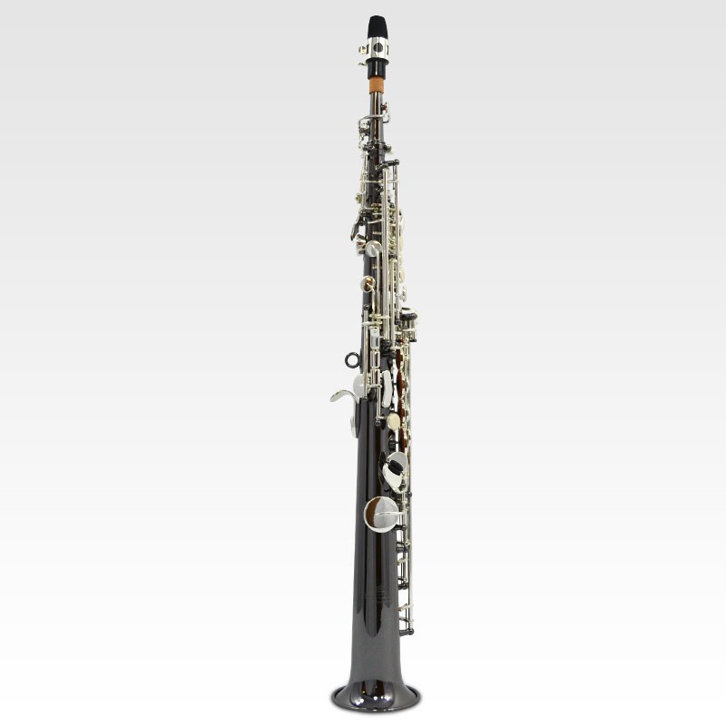 Schiller Elite V Soprano Saxophone – Black Nickle Plated w/ Silver Keys