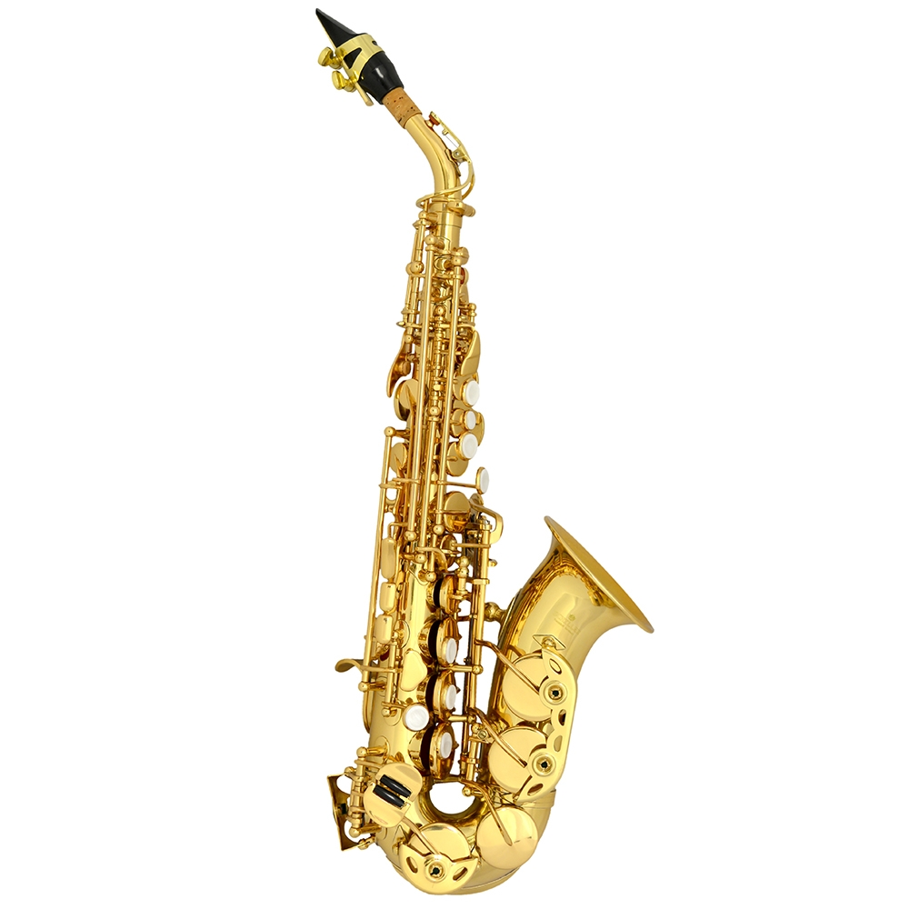 Schiller Soprano Curved Saxophone - Gold Lacquer
