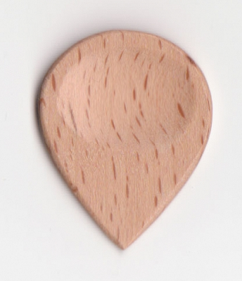 Thicket Wooden Guitar Pick with Thumb Groove - Steam Beech - Pack of 3