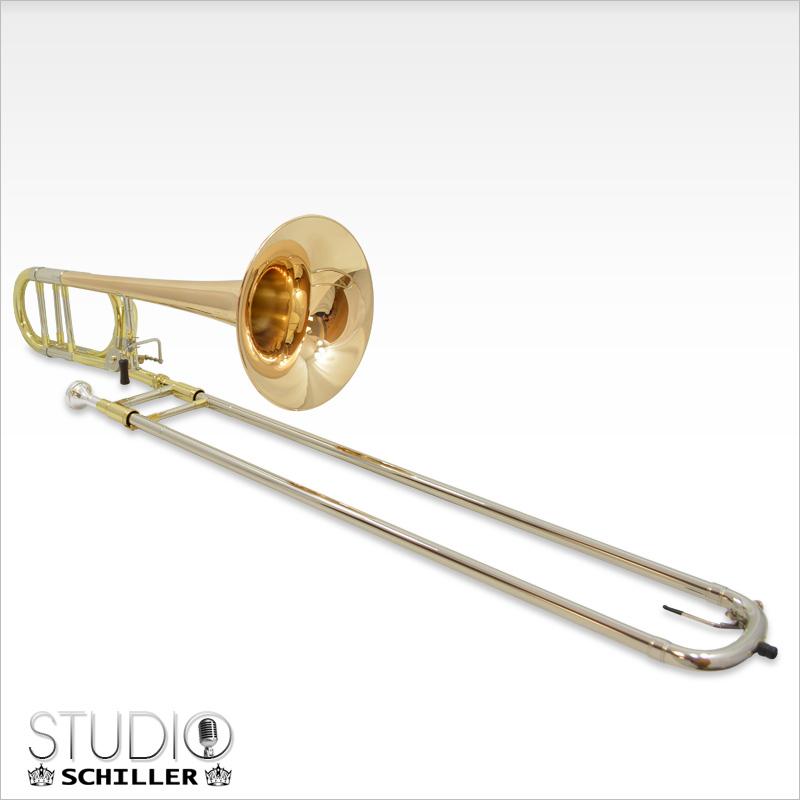 Schiller Studio 547 Trombone with Rose Gold Brass Bell