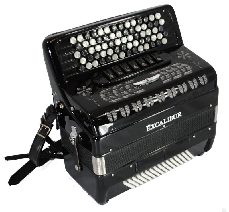 Excalibur Chromatic Stuttgart 96 Bass Accordion
