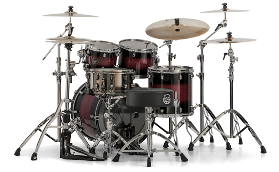 Mapex Saturn V MH Fusion 4-piece shell pack with SONIClear Edge - SV504XCL - Merlot Burst