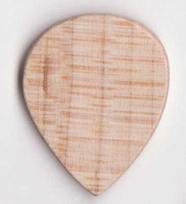 Thicket Wooden Guitar Pick - White Beech Wood - Pack of 3 - Thin