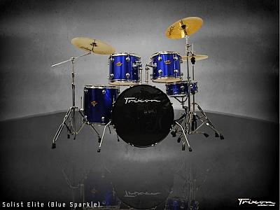 Trixon Solist Elite 5-Piece - Sparkle Blue