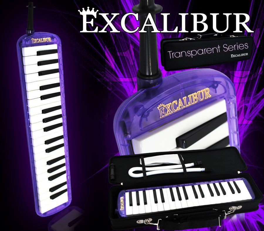 Excalibur 37 Note Melodica Orchid Purple Transparent