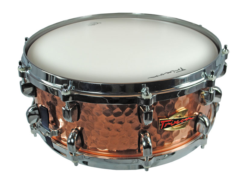 Trixon Solist Hammered Copper Snare Drum