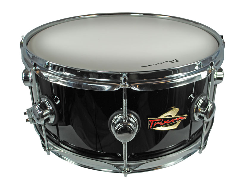 Trixon Soloist Elite Snare Drum Black Flanged