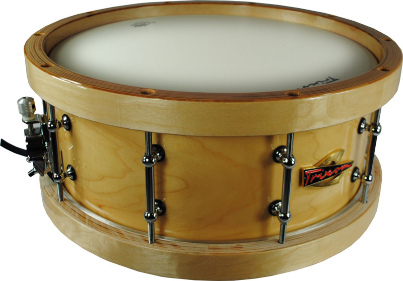 Trixon Soloist Elite Snare Drum Wood Shell Wood Hoops