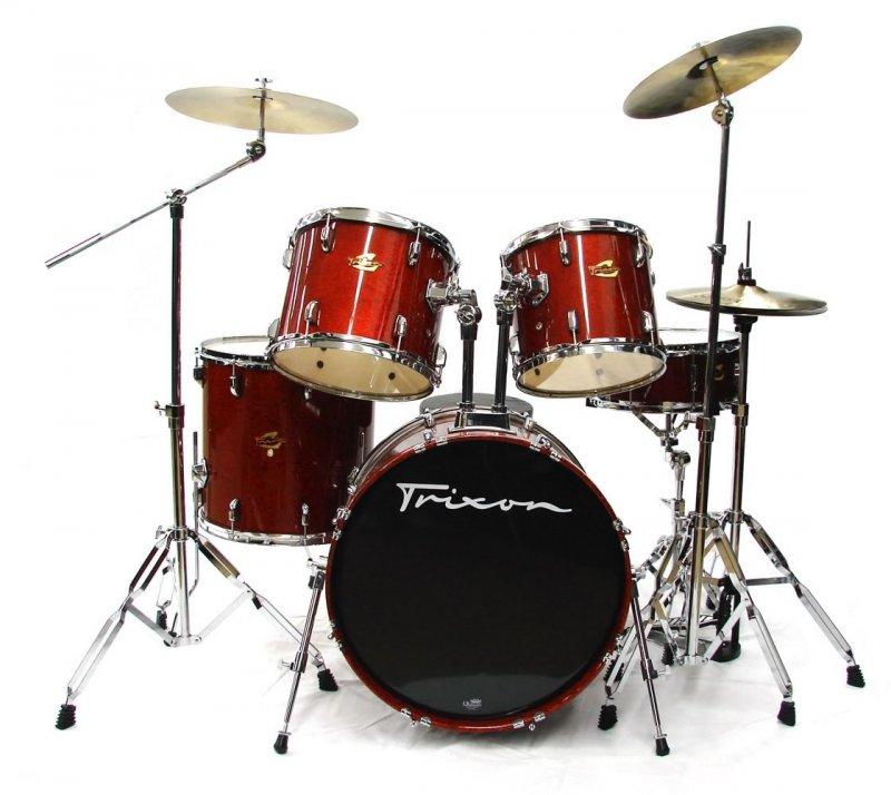 Trixon Luxus 200 Drum Set w/Cymbals & Throne - Red Sparkle